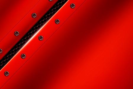 赤の金属背景灰色の金属メッシュのリベットに。背景やテクスチャの 3 d 図です。 写真素材 - 63216854