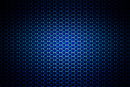 blue metal: blue chrome metallic mesh. metal background and texture. 3d illustration.