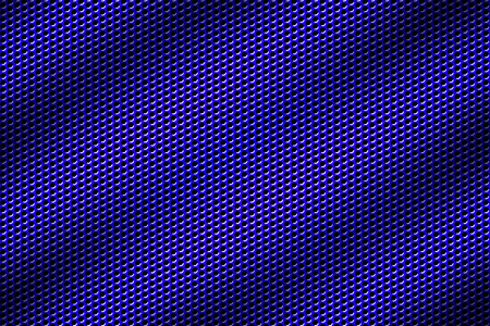 blue chrome grille. metal background and texture. 3d illustration. Stock Photo