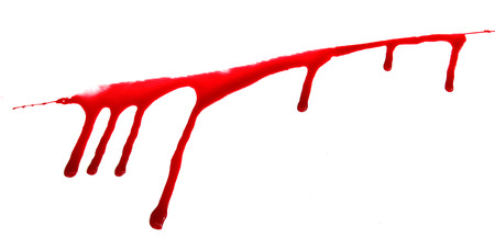 set 8. blood drop and bloodstains on isolated white background for horror content. Stock Photo