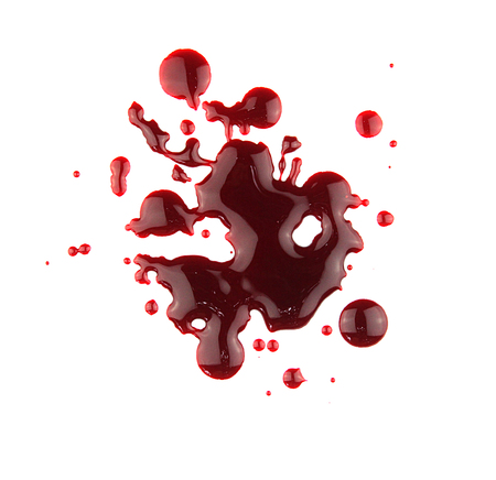 bloodstains: set 8. blood drop and bloodstains on isolated white background for horror content.