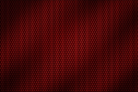grille: red chrome grille. metal background and texture. 3d illustration.