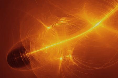 lighting effect: set 7 yellow glow energy wave. lighting effect abstract background. Stock Photo