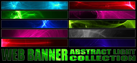 set 8. full web banner abstract light collection. standard size for full banner or leaderboard.