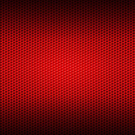 red metal: set 8. red carbon fiber mesh on red metal plate. background and texture. 3d illustration.