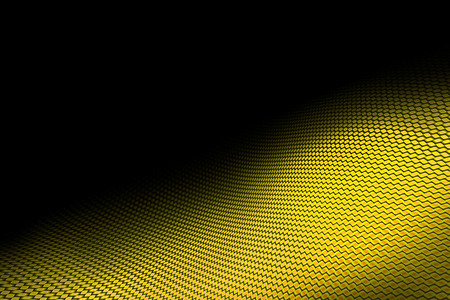 Amarilla de fibra de carbono en la curva de la sombra negro. fondo y la textura. Foto de archivo - 63220390