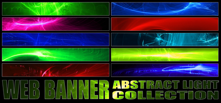 full size: set 8. full web banner abstract light collection. standard size for full banner or leaderboard.