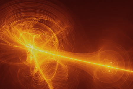 yellow glow energy wave. lighting effect abstract background.
