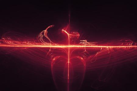 lighting effect: purple glow energy wave. lighting effect abstract background. Stock Photo