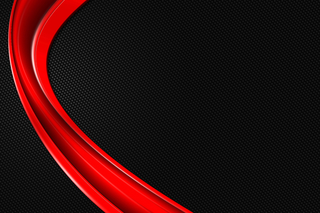 red and black carbon fiber. metal background and texture. 3d illustration.