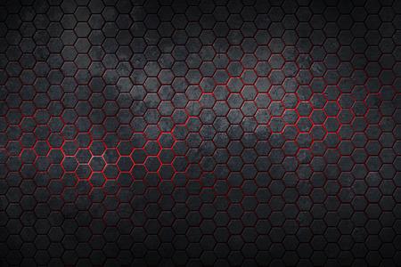 hexágono de antecedentes con la textura real. Ilustración 3D. Foto de archivo