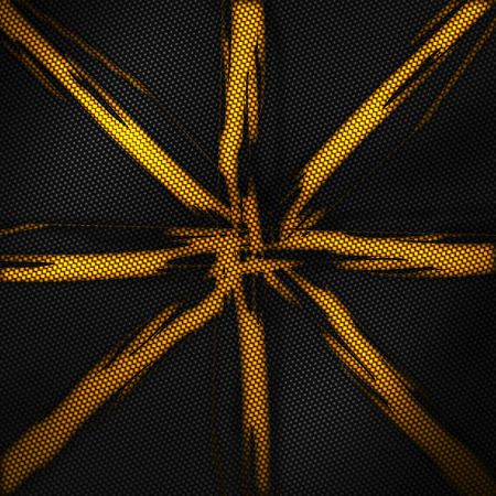 yellow carbon fiber background and texture. 3d illustration.