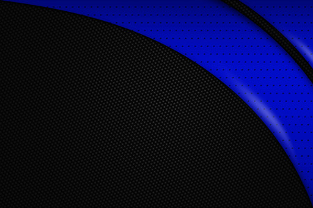 blue background texture: blue and black chrome carbon fiber. metal background and texture. 3d illustration.