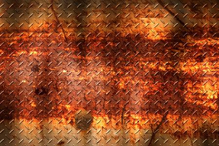 grunge diamant plaat. vuile roest metalen achtergrond en textuur. 3D-afbeelding.
