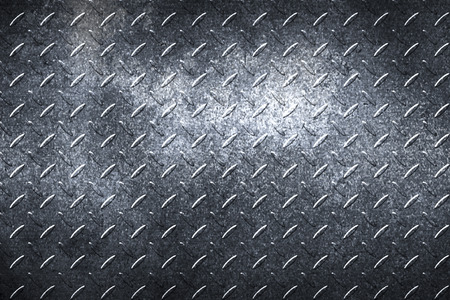 diamondplate: grunge diamond plate. dirty black metal background and texture. 3d illustration.
