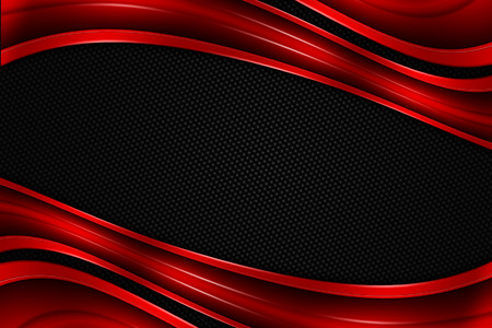 red and black chrome carbon fiber. metal background and texture. 3d illustration. Zdjęcie Seryjne - 67839870