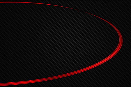 red and black chrome carbon fiber. metal background and texture. 3d illustration.