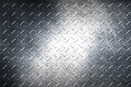 stepping: grunge diamond plate. dirty black metal background and texture. 3d illustration.