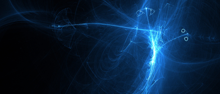 blue glow energy wave. lighting effect abstract background. extreme widescreen.
