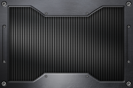 grille: chrome grille background with metal frame. 3d illustration. Stock Photo
