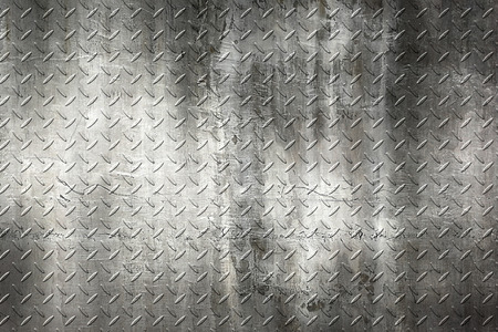grunge diamond plate. dirty rust metal background and texture. 3d illustration.