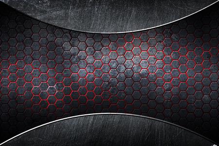 chrome carbon fiber. metal background and texture. 3d illustration. Foto de archivo