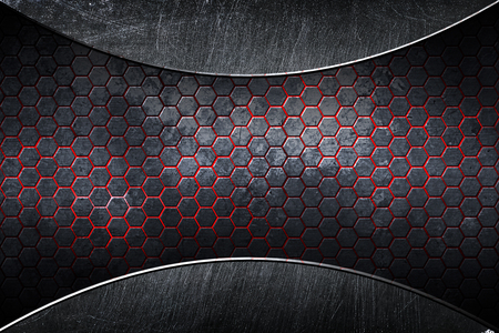 chrome carbon fiber. metal background and texture. 3d illustration. Stockfoto