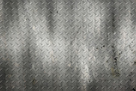 black grunge diamond plate. dirty rust metal background and texture. 3d illustration.