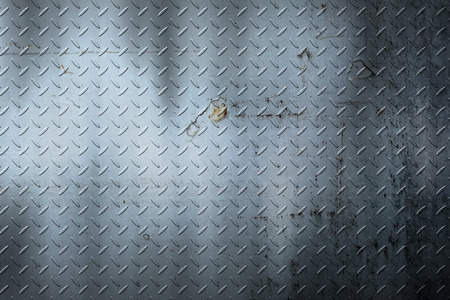 gray grunge diamond plate. dirty rust metal background and texture. 3d illustration.