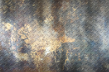 grunge diamond plate. dirty rust metal background and texture. 3d illustration. Reklamní fotografie - 119360786