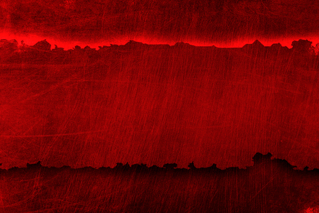red metal on red metal plate. background andtexture. 3d illustration