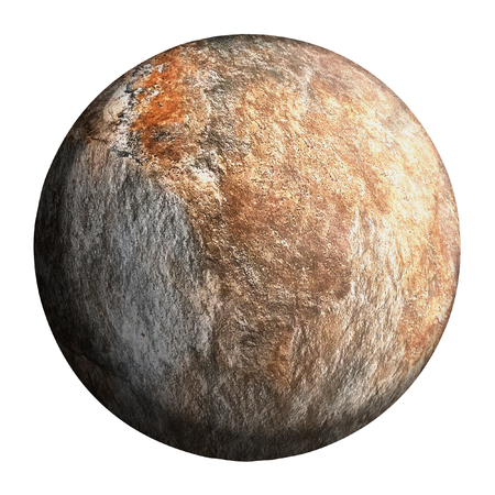 gray planet isolated and add clipping path. 3d illustration design.