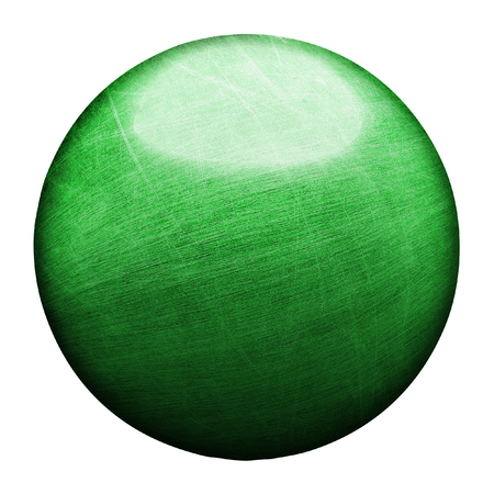 old green and rust metallic ball. isolated with clipping path. 3d illustration. 写真素材
