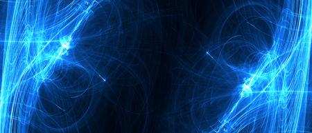 lueur d'onde circulaire bleue. effet d'éclairage kaléidoscope. abstrait pour votre entreprise. écran large.