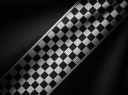 white and black carbon fiber background. checkered pattern. 3d illustration material design. sport racing style. Zdjęcie Seryjne