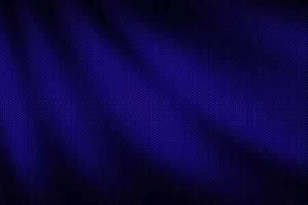 blue wave metallic mesh. metal background and texture. 3d illustration design.