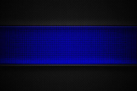 blue and black carbon fiber. two tone metal background and texture. 3d illustration design. Zdjęcie Seryjne
