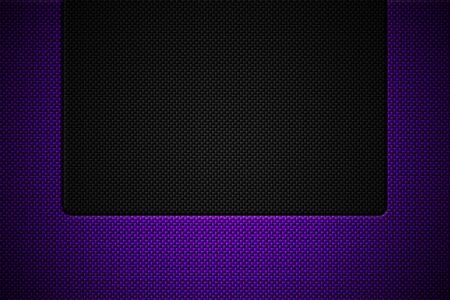 purple and black carbon fiber. two tone metal background and texture. 3d illustration design.
