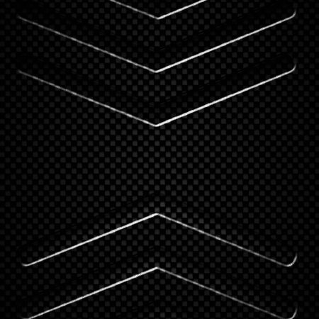 black carbon fiber metal background and texture. material design. 3d illustration.
