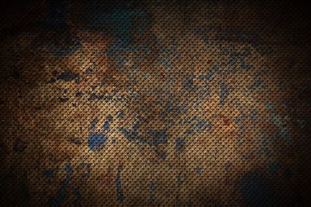 brown geometric pattern. metal background and texture. 3d illustration design.