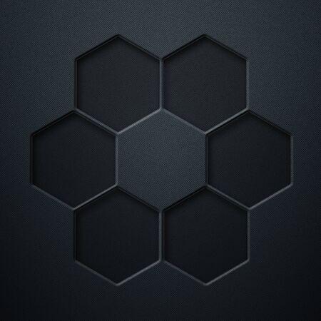 blue carbon fiber metal background and texture. material design. 3d illustration.