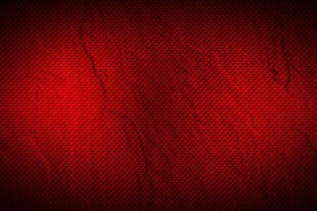 red geometric pattern. metal background and texture. 3d illustration design. Zdjęcie Seryjne