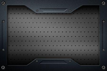 black carbon fiber and frame for background and texture. 3d illustration. Zdjęcie Seryjne