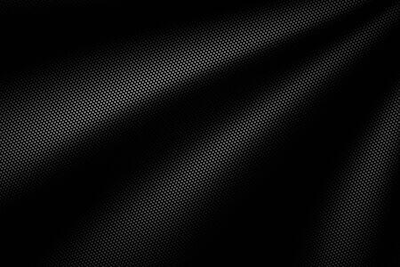 black wave carbon fiber. metal background and texture. 3d illustration design.
