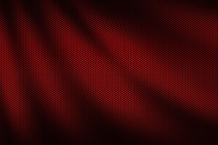 red wave metallic mesh. metal background and texture. 3d illustration design.