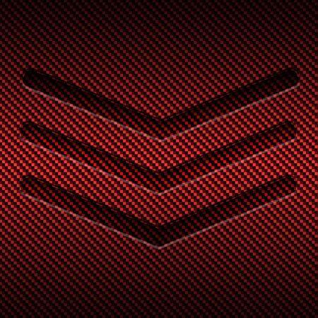 red carbon fiber metal background and texture. material design. 3d illustration.