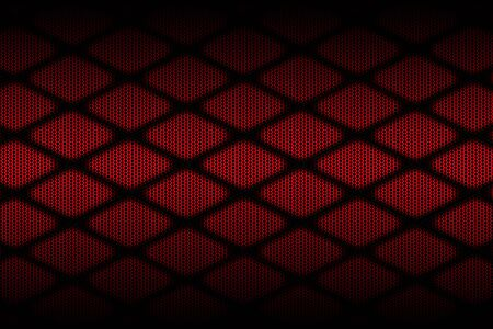 red and black cell metal background and texture. 3d illustration design.