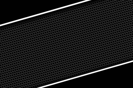 white and black cell metal background and texture. 3d illustration design. Zdjęcie Seryjne