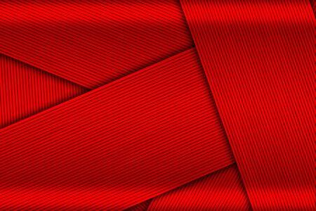overlap black and red carbon fiber. metal background and texture. 3d illustration design. Zdjęcie Seryjne