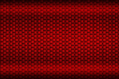 red carbon fiber plate. dark metal background and texture. 3d illustration design. cluse up view.